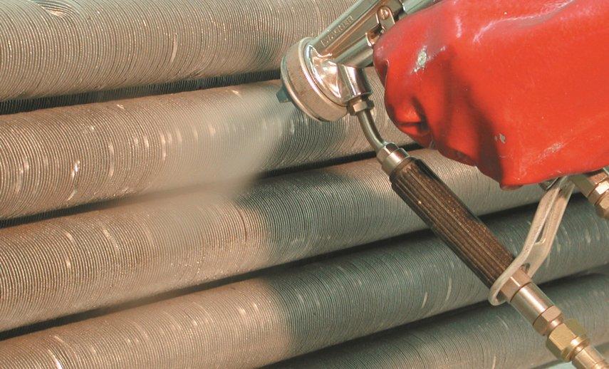 Revestimiento de tubos con aletas